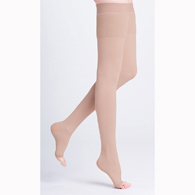 SIGVARIS 504T 40-50 mmHg Natural Rubber Open Toe Thigh High